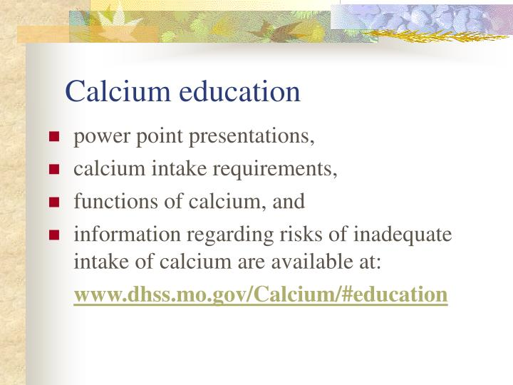 Calcium education