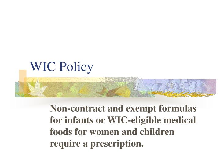 WIC Policy