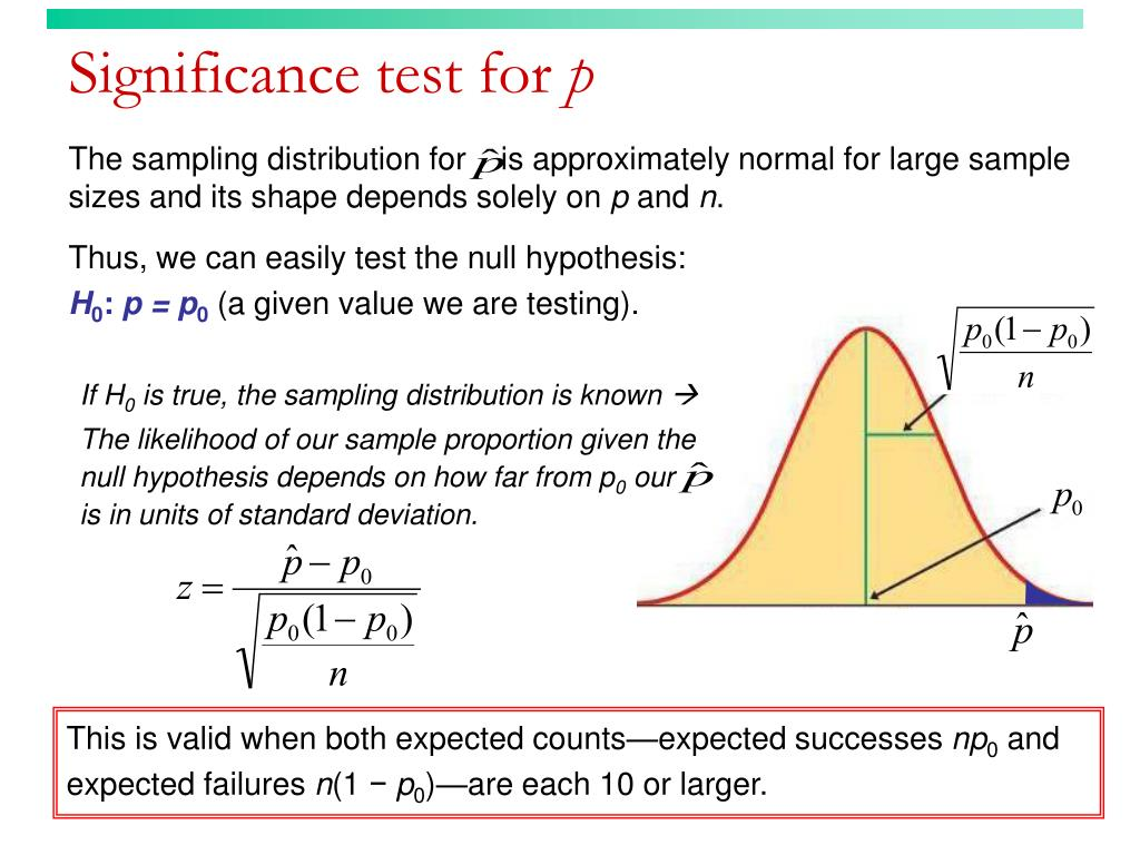 Significance test for