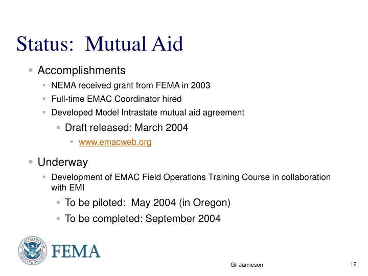 Status:  Mutual Aid
