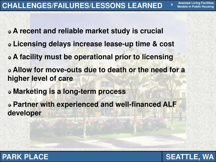 CHALLENGES/FAILURES/LESSONS LEARNED