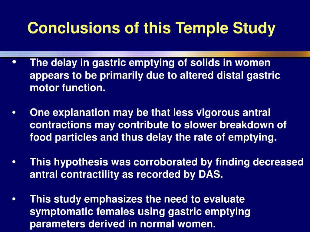 Conclusions of this Temple Study