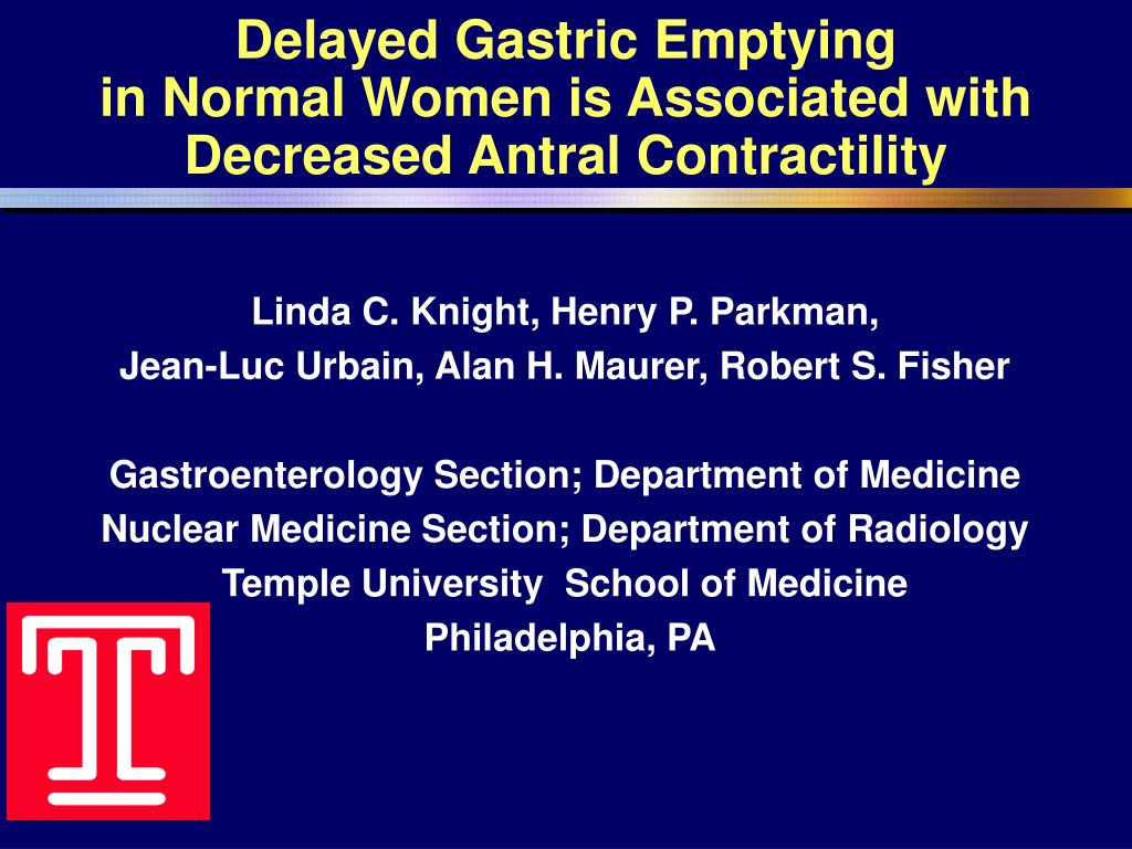 Delayed Gastric Emptying