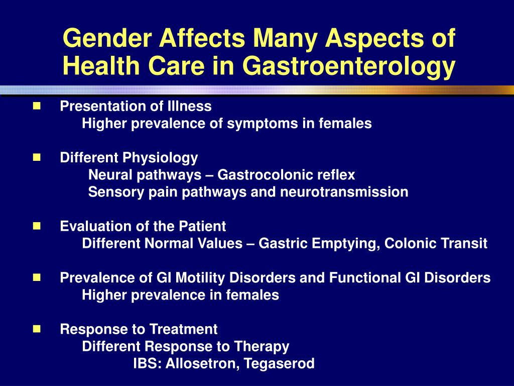 Gender Affects Many Aspects of Health Care in Gastroenterology
