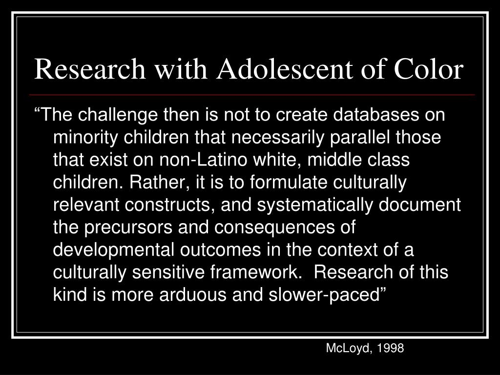 Research with Adolescent of Color