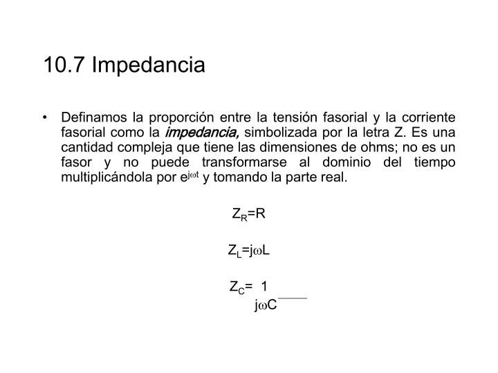 10.7 Impedancia