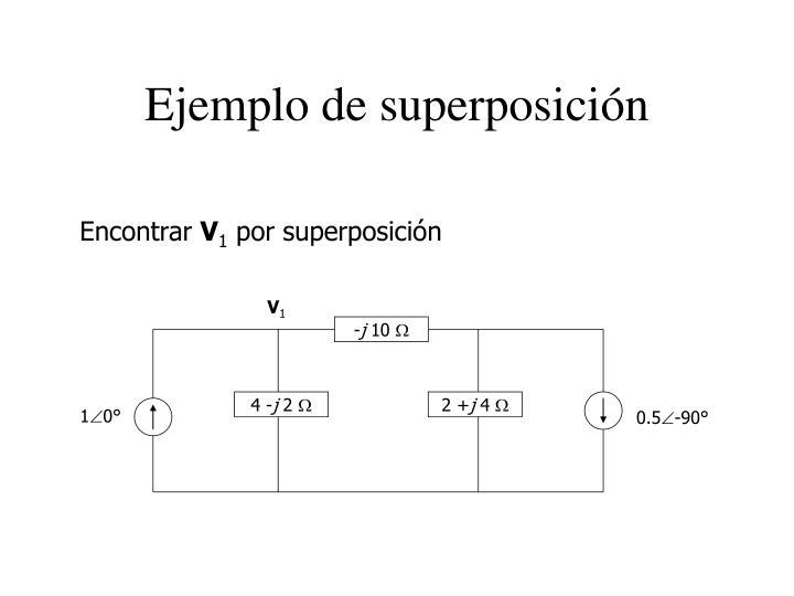 Ejemplo de superposición