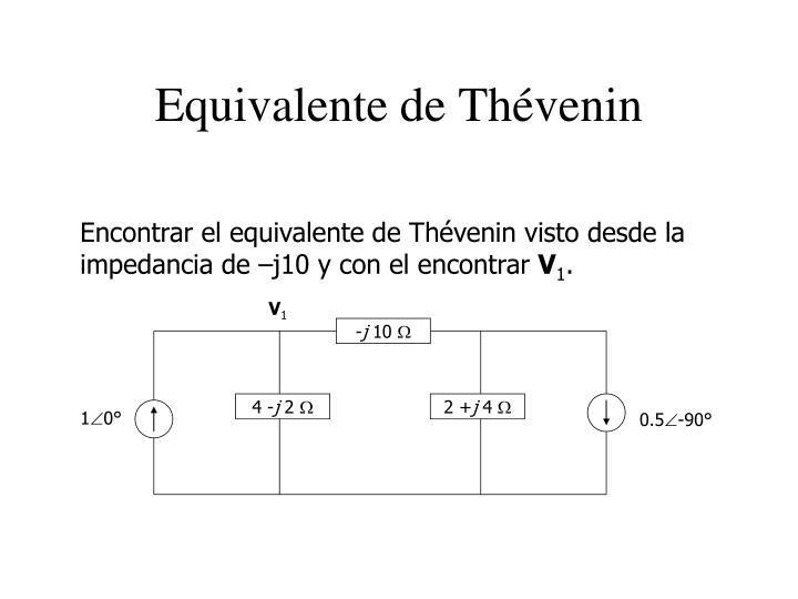 Equivalente de Thévenin