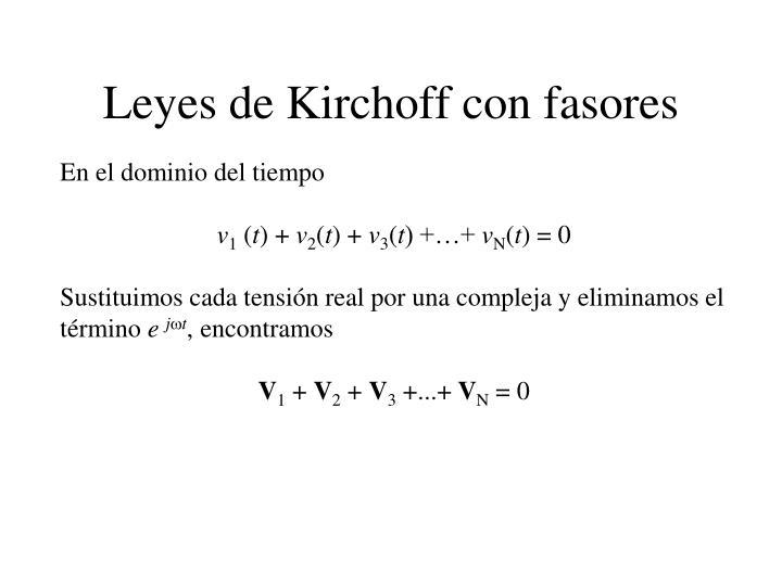 Leyes de Kirchoff con fasores