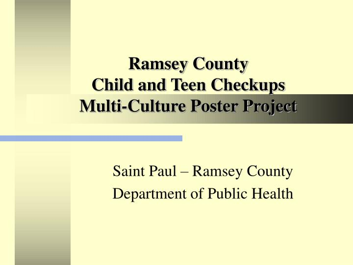 Ramsey county child and teen checkups multi culture poster project