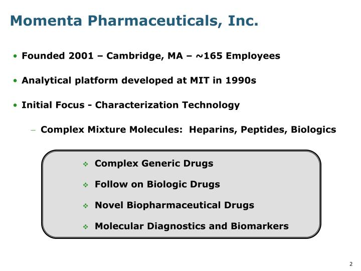 Momenta pharmaceuticals inc