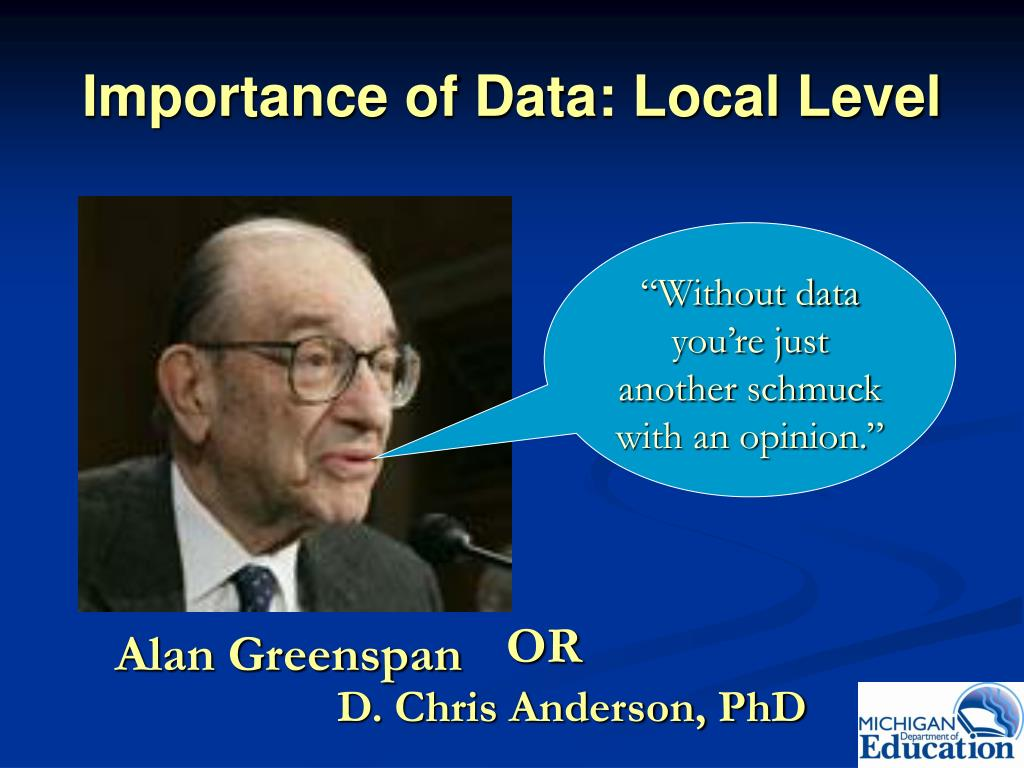 Importance of Data: Local Level