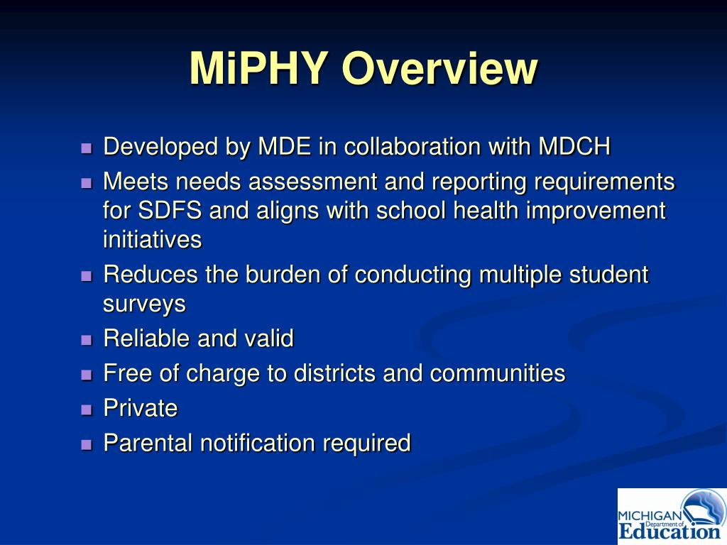 MiPHY Overview