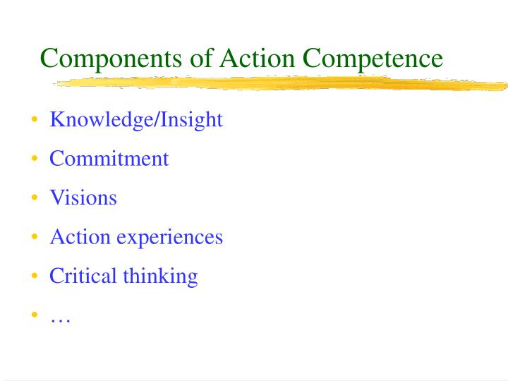 Components of Action Competence