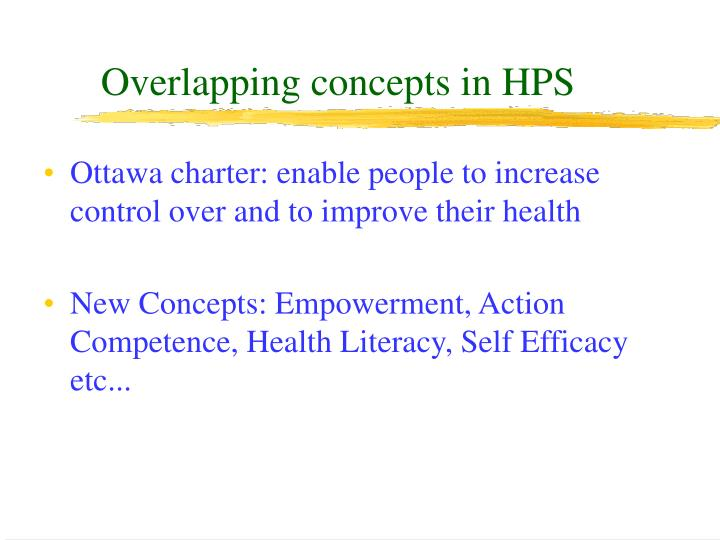 Overlapping concepts in HPS