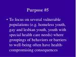 purpose 5