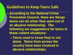 guidelines to keep teens safe