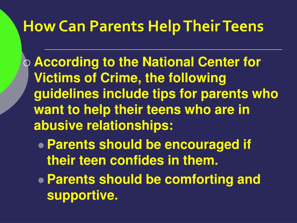 How Can Parents Help Their Teens