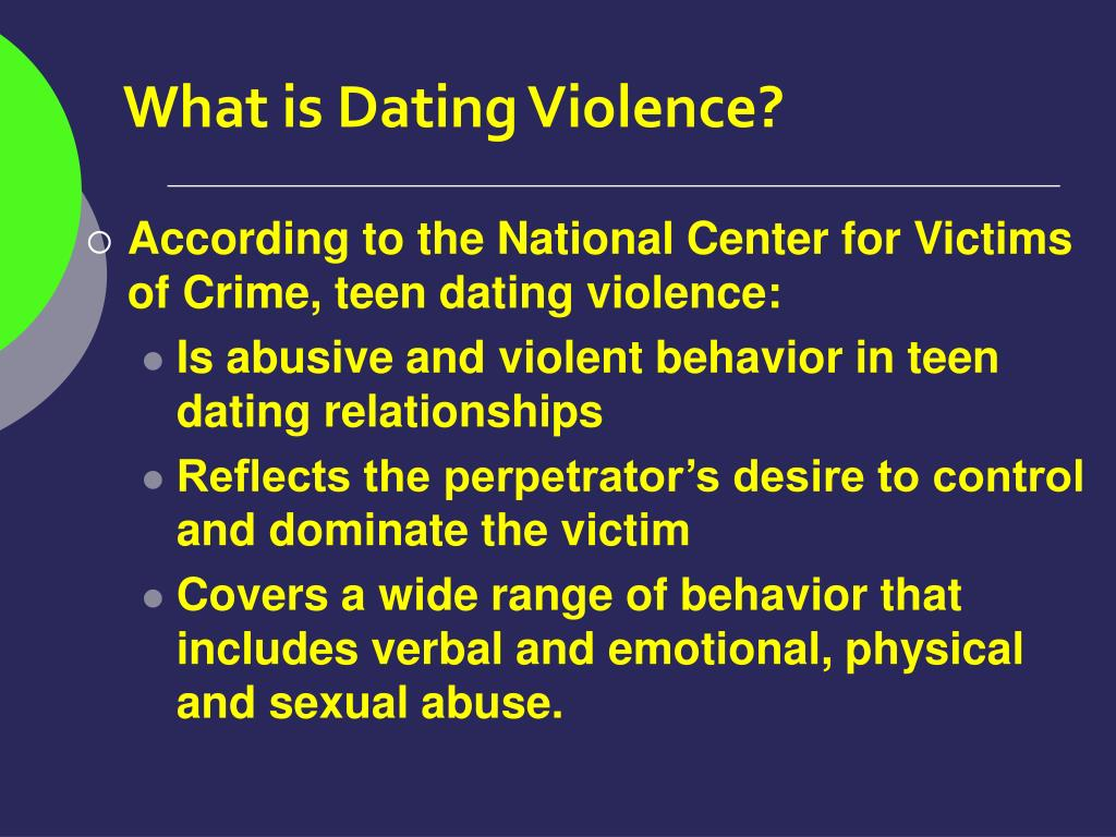 What is Dating Violence?