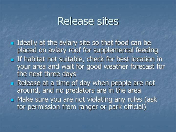 Release sites