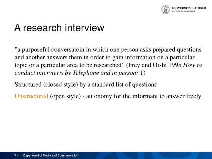 A research interview