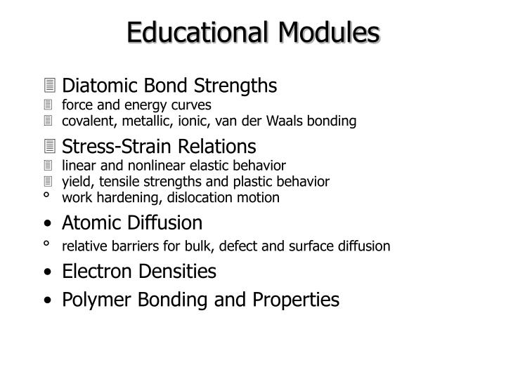Educational Modules