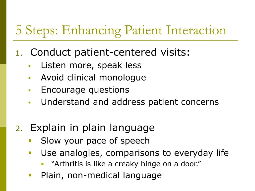 5 Steps: Enhancing Patient Interaction