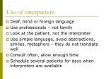 use of interpreters
