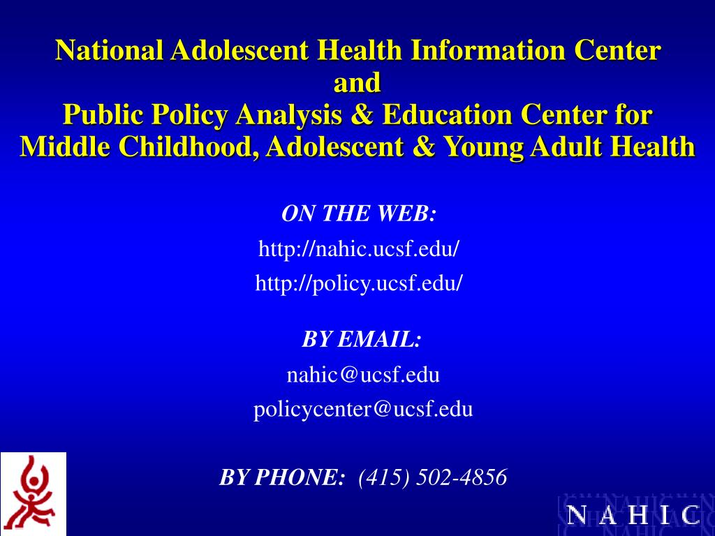 National Adolescent Health Information Center