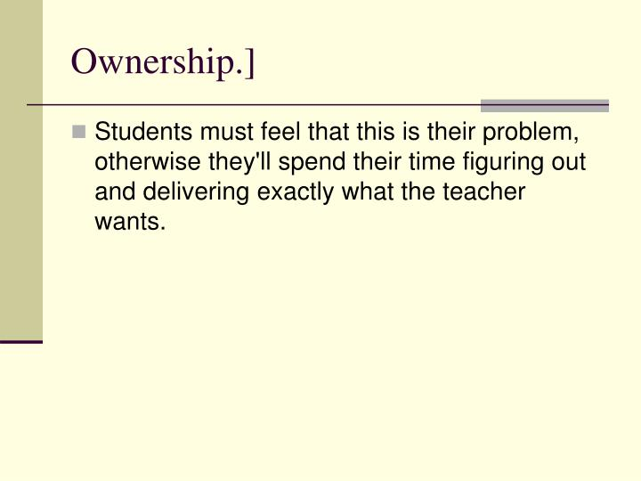 Ownership.]