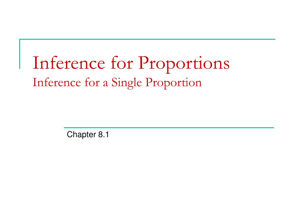 Inference for Proportions