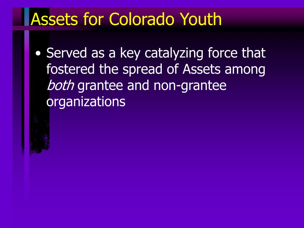 Assets for Colorado Youth