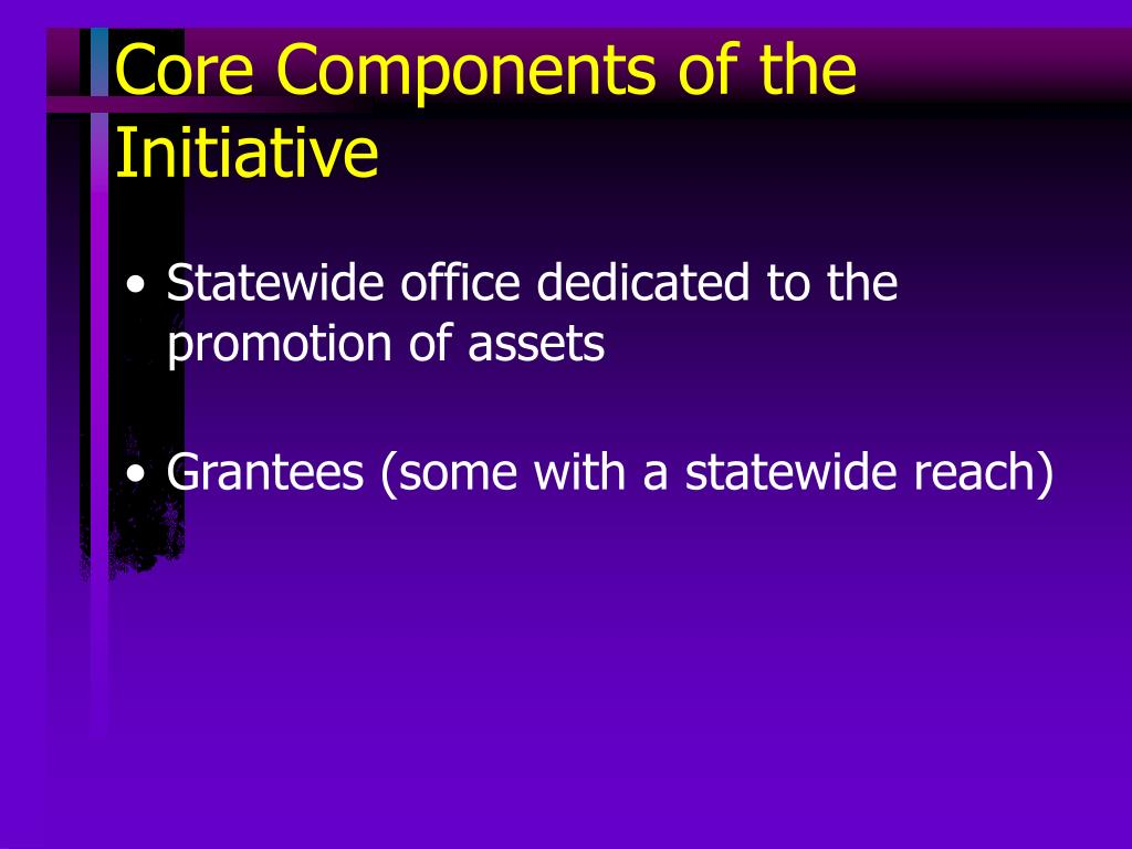 Core Components of the Initiative