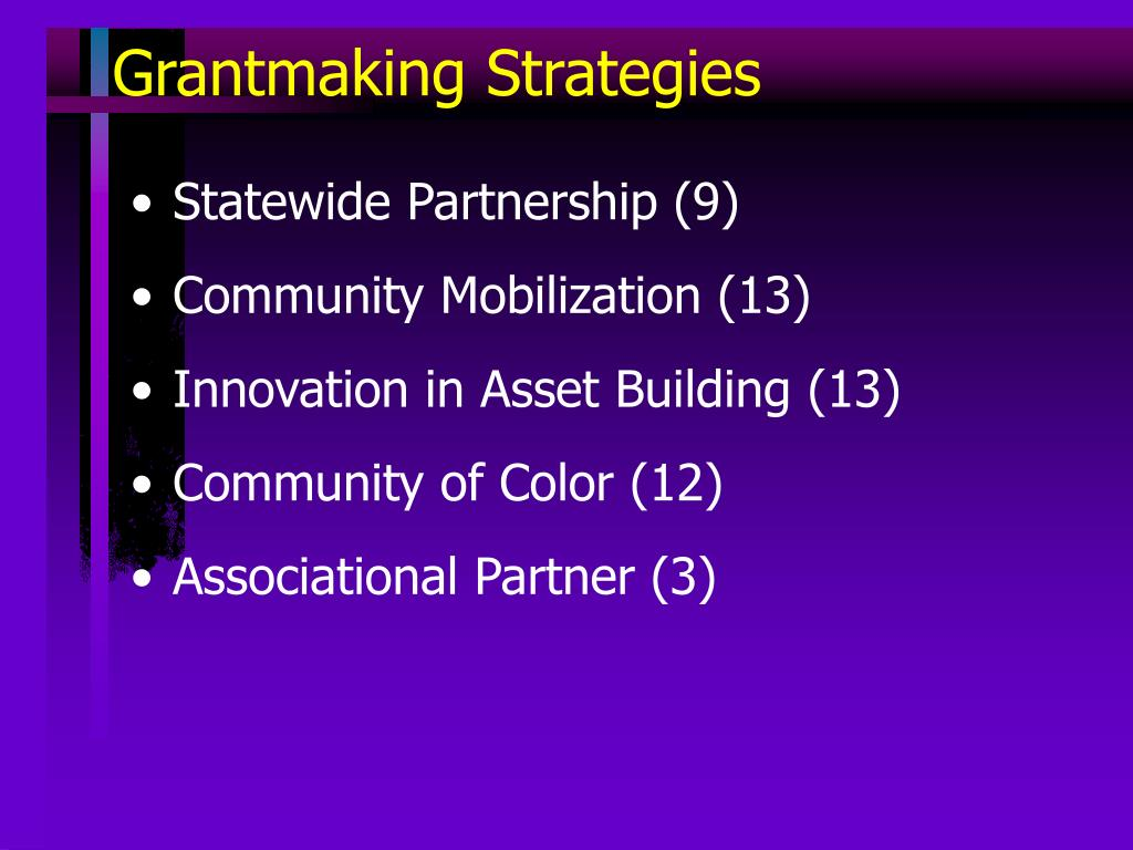 Grantmaking Strategies