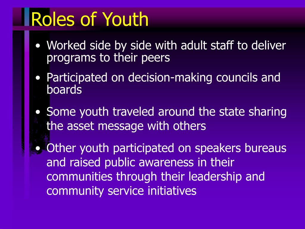 Roles of Youth