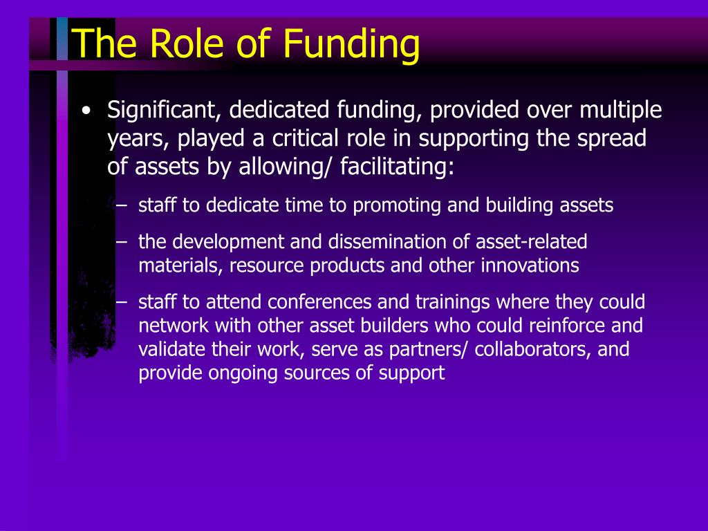 The Role of Funding