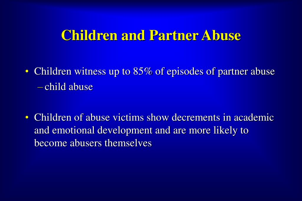 Children and Partner Abuse