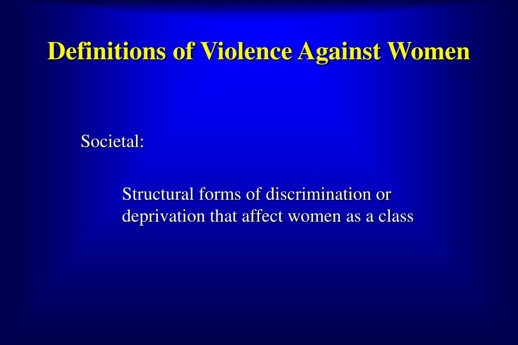 Definitions of Violence Against Women