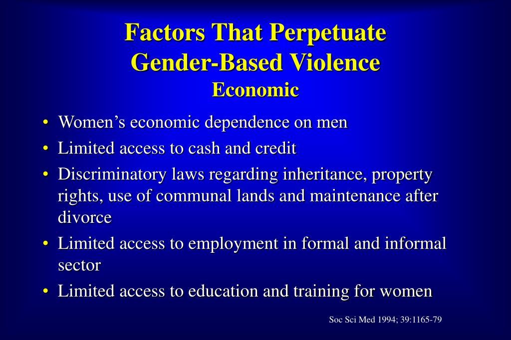 Factors That Perpetuate