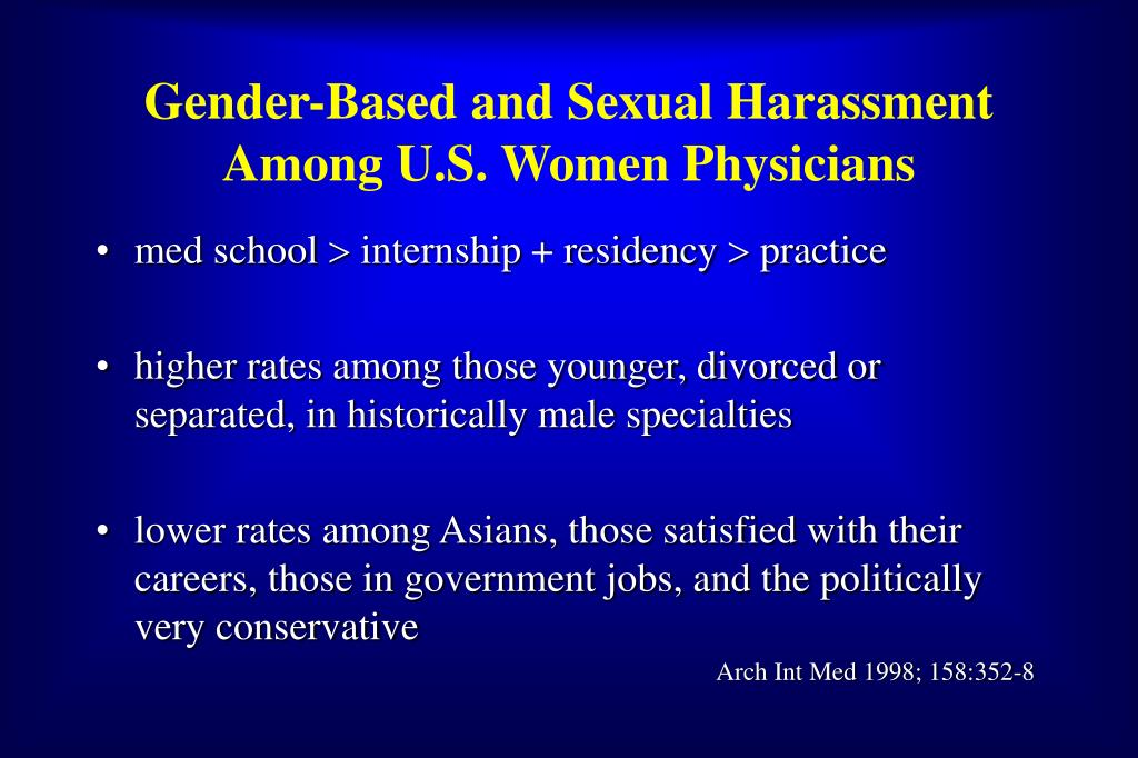 Gender-Based and Sexual Harassment Among U.S. Women Physicians