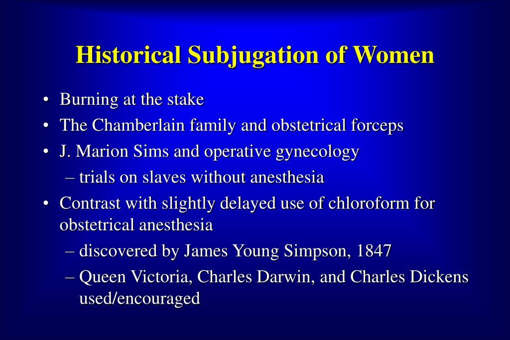 Historical Subjugation of Women