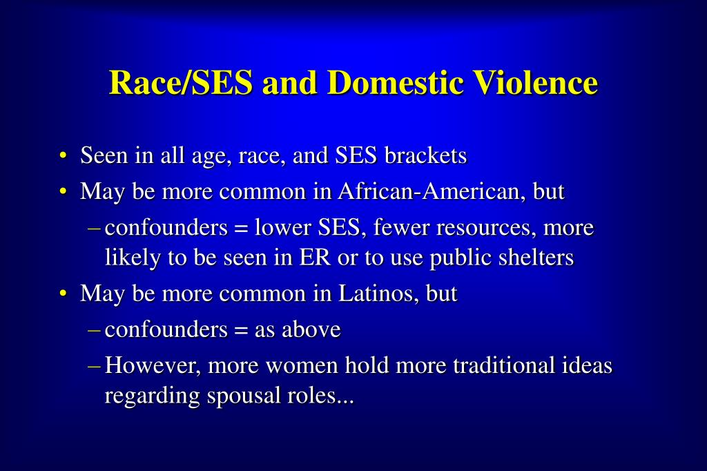 Race/SES and Domestic Violence