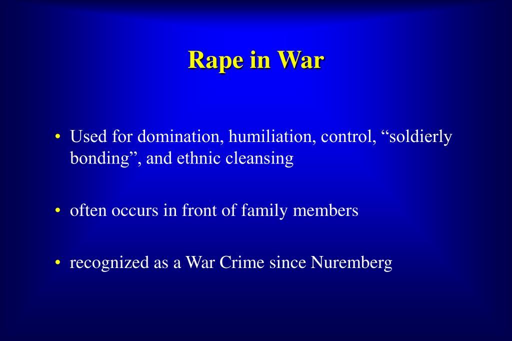 Rape in War