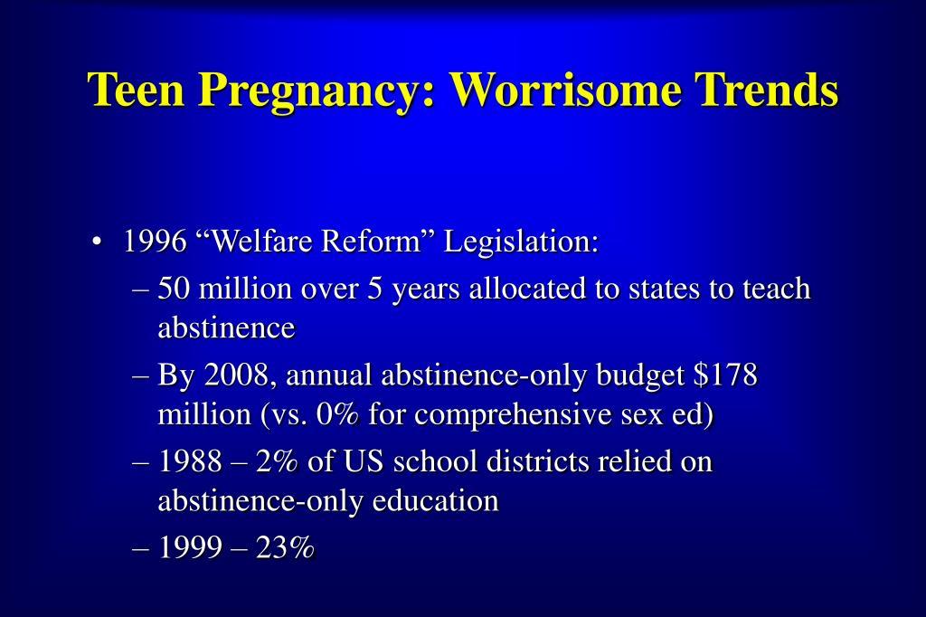 Teen Pregnancy: Worrisome Trends