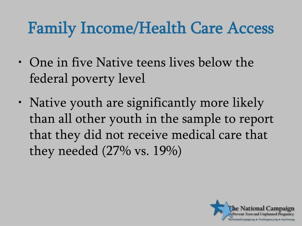 Family Income/Health Care Access