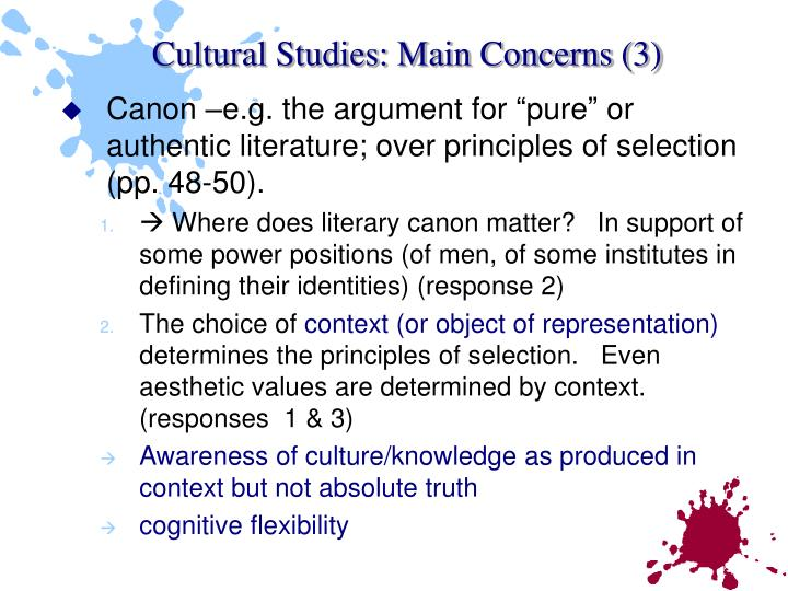 Cultural Studies: Main Concerns (3)
