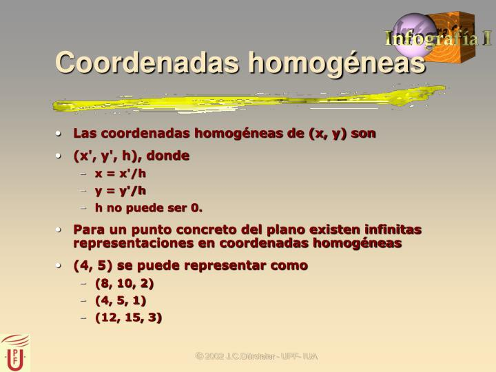 Coordenadas homogéneas
