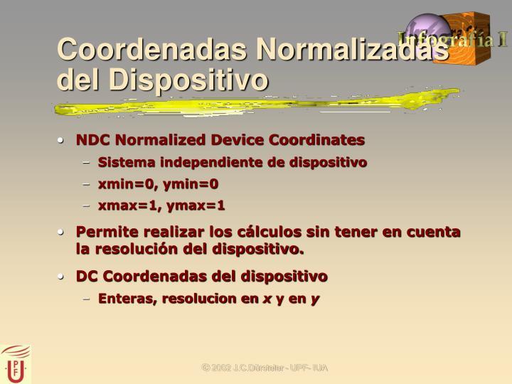 Coordenadas Normalizadas del Dispositivo