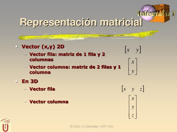 Representación matricial