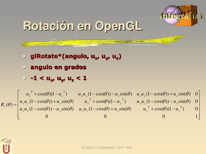 Rotación en OpenGL